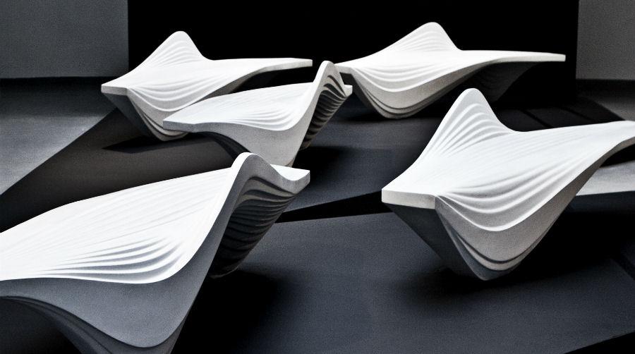 Dubai Design Week - Installazione di Serac Benches