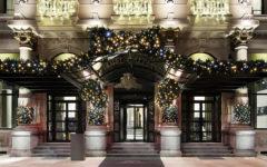 Hotel Excelsior Gallia di Milano - l'ingresso addobbato per le feste natalizie