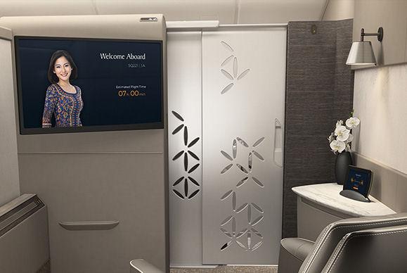 Le nuove Suite a bordo degli Airbus 380 di Singapore Airlines