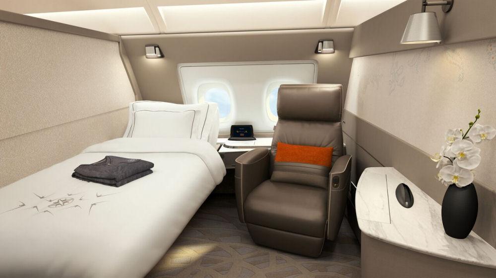 Suite a bordo dei nuovi Airbus 380 di Singapore Airlines