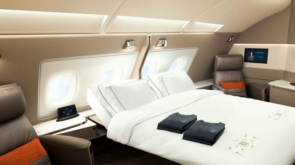 Suite doppia a bordo dei nuovi Suite a bordo dei nuovi Airbus 380 di Singapore Airlines