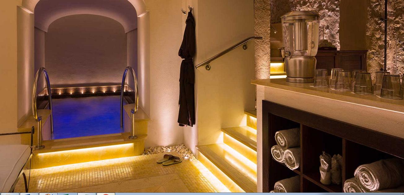 Gli interni e la SPA Suite del Monastero Santa Rosa Hotel & SPA