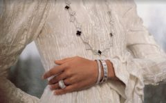 Perlée diamants pavé
